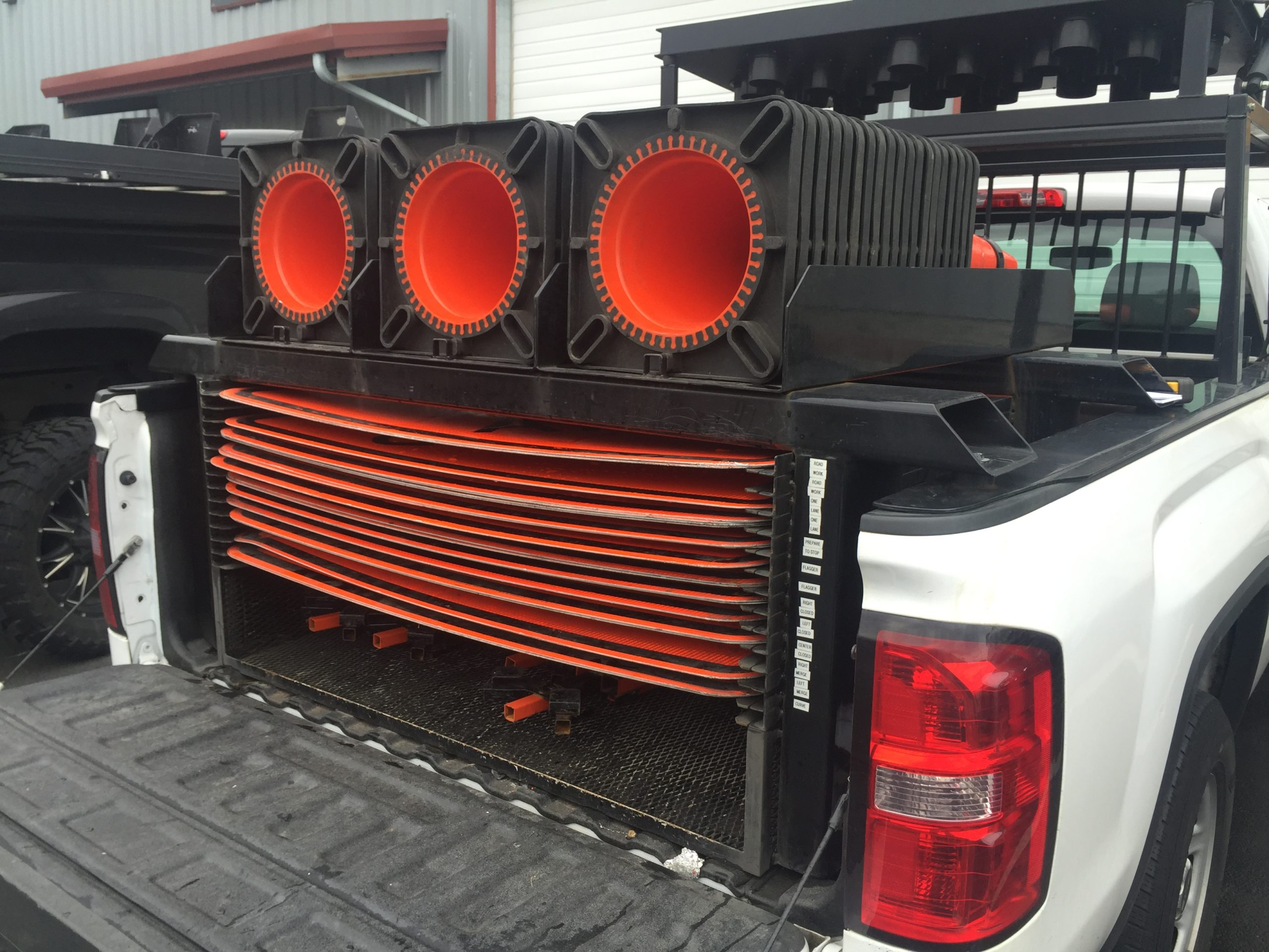 Traffic Sign Truck Bed Rack